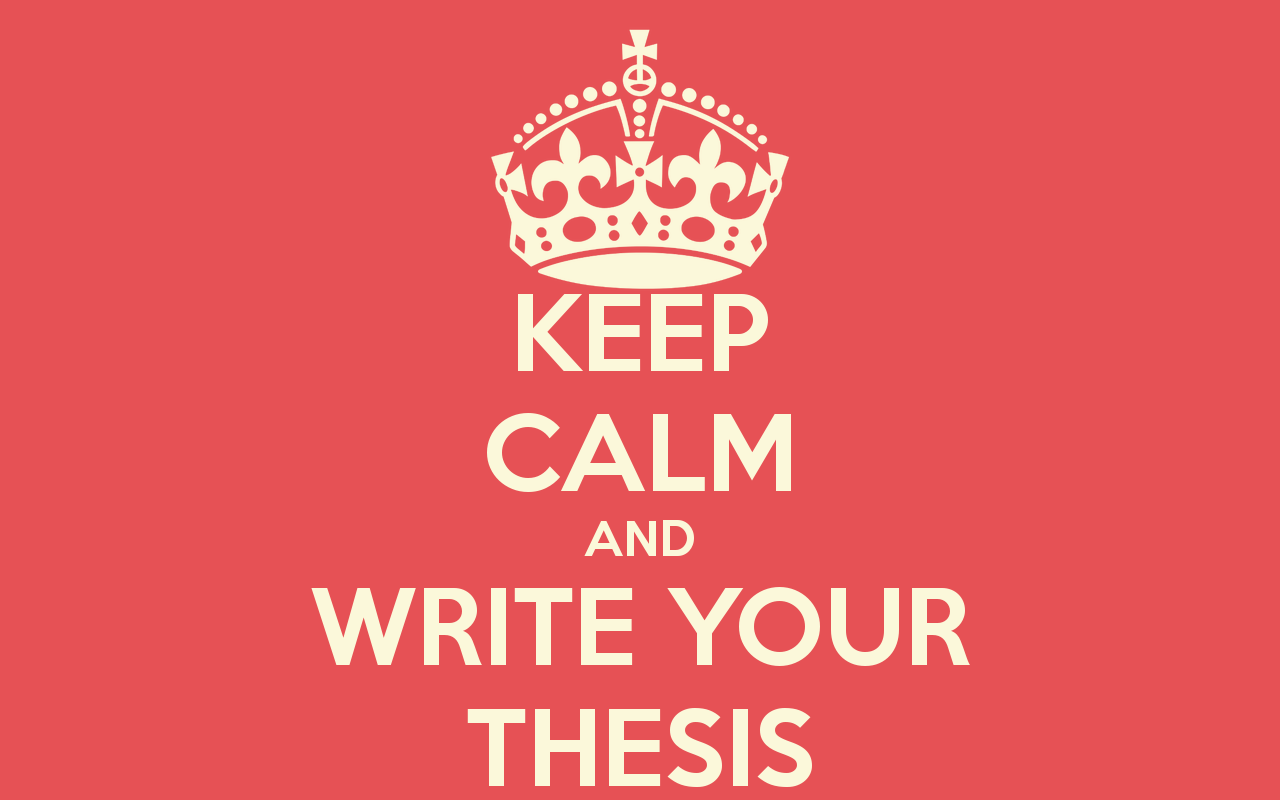 Write your thesis
