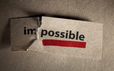 Things people consider impossible: how to face them